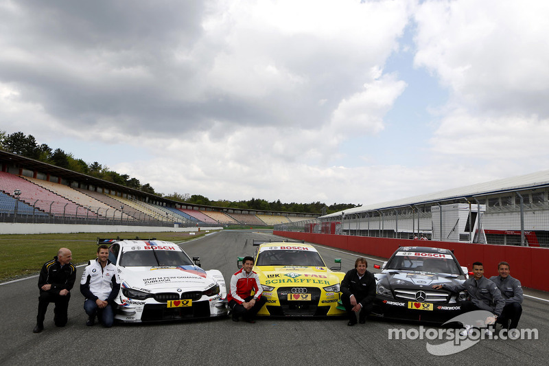 All three Manufactures, BMW M4, Audi RS5 DTM, Merecdes C-Coupe with Volker Strycek DTM Champion 1984