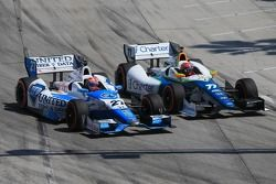 James Hinchcliffe, Andretti Autosport Honda and Simon Pagenaud, Schmidt Peterson Hamilton Motorsport