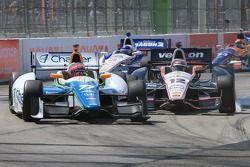 Simon Pagenaud, Schmidt Peterson Hamilton Motorsports Honda crashes