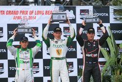 Carlos Munoz, Andretti Autosport Honda, Mike Conway, Ed Carpenter Racing Chevrolet, Will Power, Pens