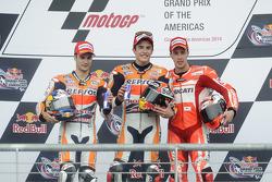 Podium: 1. Marc Marquez, 2. Dani Pedrosa, 3. Andrea Dovizioso