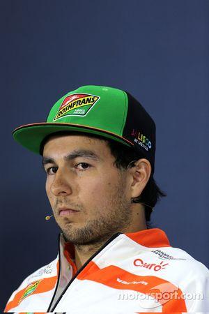 Sergio Perez, Sahara Force India na conferência de imprensa