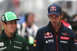 Kamui Kobayashi, Caterham F1 Team e Jean-Eric Vergne, Scuderia Toro Rosso