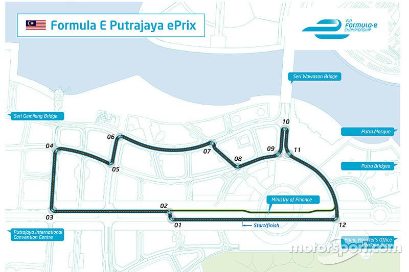El diseño de la ePrix de Putrajaya de Malasia