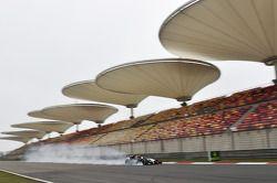 Sergio Perez, Sahara Force India F1 VJM07 trava na freada