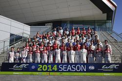 Foto do grupo de pilotos de 2014