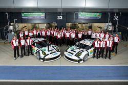 #91 Porsche AG Team Manthey Porsche 911 RSR: Jörg Bergmeister, Patrick Pilet, Nick Tandy and #92 Por