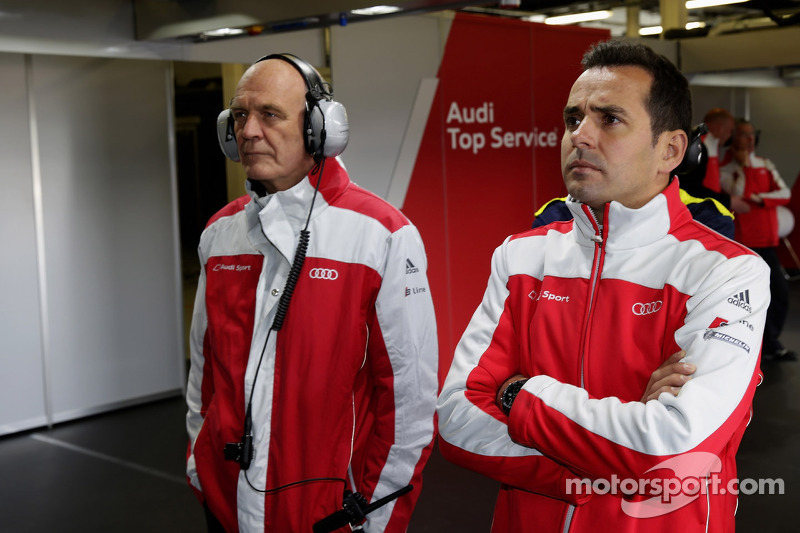Dr. Wolfgang Ullrich, head of Audi Motorsport and Benoit Tréluyer