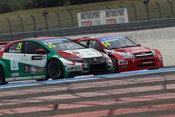 Mehdi Bennani, Honda Civic WTCC, Proteam Racing et Mikhail Kozlovskiy, LADA Granta 1.6T, LADA Sport