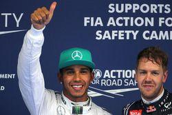 Lewis Hamilton, Mercedes AMG F1 Team and Sebastian Vettel, Red Bull Racing