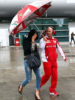 Minttu Virtanen, Freundin von Kimi Räikkönen, mit Mark Arnall, Fitnesstrainer