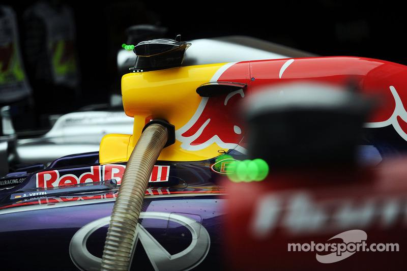 La Red Bull Racing RB10 di Sebastian Vettel, Red Bull Racing in Parco chiuso