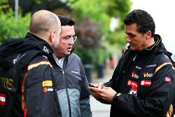 Gérard Lopez avec Eric Boullier et Federico Gastaldi