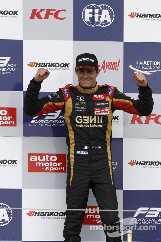 Vencedor Esteban Ocon