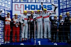 Podium: race winners Pierre Thiriet, Ludovic Badey, Tristan Gommendy, second place Michel Frey, Fran