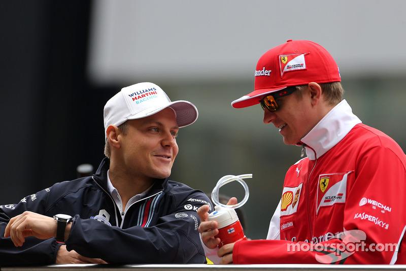 Valtteri Bottas, Williams F1 Team; Kimi Räikkönen, Scuderia Ferrari