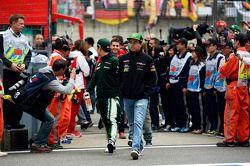 Sergio Perez, Sahara Force India F1 na parada dos pilotos