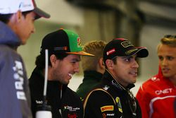 Lotus F1 Team Esteban Gutiérrez, Sauber con Sergio Pérez, Sahara Force India F1 y Pastor Maldonado,