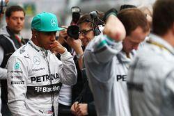 Lewis Hamilton, Mercedes AMG F1 en la parrilla de salida