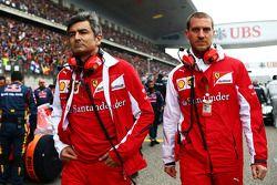 Marco Mattiacci, Ferrari, Teamchef; Renato Bisignani, Ferrari, Kommunikationschef