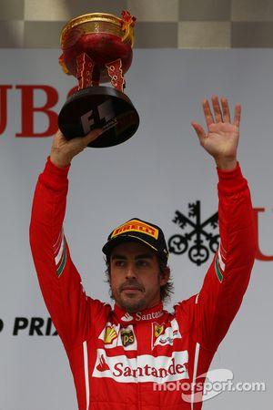 Tercer lugar Fernando Alonso, Ferrari
