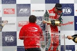 Podium: race winner Antonio Fuoco