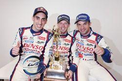 Vencedores da corrida Anthony Davidson, Nicolas Lapierre, Sebastien Buemi