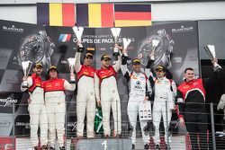领奖台:比赛获胜者 Cesar Ramos, Laurens Vanthoor, 第二名 Rene Rast, Enzo Ide, 第三名 Niki Mayr-Melnhof, Markus Wink