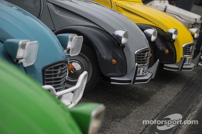 Un line-up de Citroën 2CV