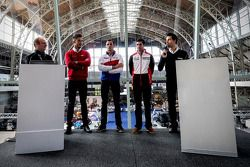 Andre Lotterer, Stéphane Sarrazin, Neel Jani ve Frederic Makowiecki basın konferansı sonunda