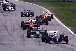 Ayrton Senna lidera en su Williams