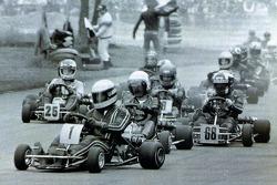 Ayrton Senna davanti a Terry Fullerton
