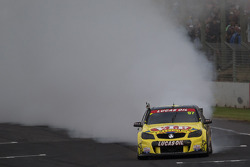 Race winner Shane van Gisbergen with Scott McLaughlin