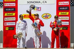 Podium: Mark McKenzie, Harry Cheung, Ricardo Perez