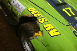 Damage to the #17 Cobra