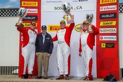 Coppa Shell Podium: Jon Becker, James Weiland, Chris Ruud