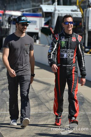 Kurt Busch, Andretti Autosport Honda en James Hinchcliffe