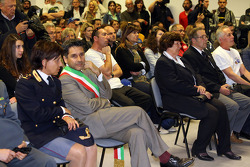 Mass in memory of Roland Ratzenberger and Ayrton Senna celebrated by Priest Sergio Mantovani, the ch