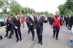 Commemoration ceremony at the Tamburello curve, Kimi Raikkonen
