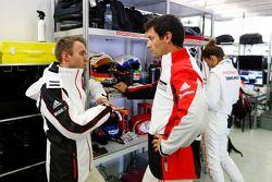 Timo Bernhard en Mark Webber
