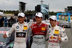 Segundo colocado Marco Wittmann, BMW Team RMG BMW M4 DTM, Pole Adrien Tambay, Audi Sport Team Abt Sp