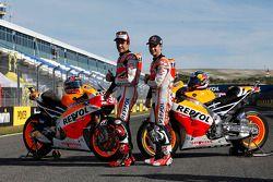 Дани Педроса и Марк Маркес. ГП Испании, пятничная тренировка.