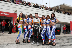 Norbert Michelisz, Honda Civic WTCC, Zengo Motorsport  and Grid Girls
