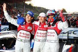 Tweede plaats #1 Audi Sport Team Joest Audi R18 e-tron quattro: Lucas di Grassi, Loic Duval, Tom Kri
