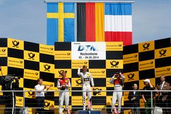 Podium: race winner Marco Wittman, second place Mattias Ekström, third place Adrien Tambay