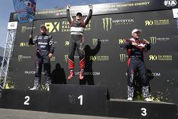Podium: 1er Petter Solberg, 2ème Andreas Bakkerud, 3ème Reinis Nitiss