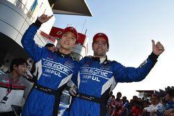 GT500 winners Hironobu Yasuda, Joao Paulo de Oliveira