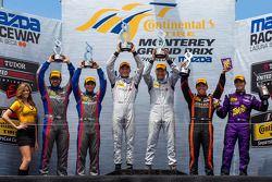 PC组领奖台: 获胜者 Mirco Schultis, Renger van der Zande, 第二名 Luis Diaz, Sean Rayhall, 第三名 Duncan Ende, Brun