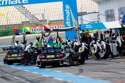 Pitstop, Robert Wickens, Mercedes AMG DTM-Team HWA DTM Mercedes AMG C-CoupÈ and Christian Vietoris,