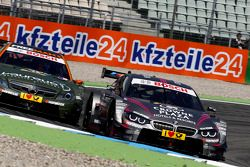 Robert Wickens su Mercedes AMG C-Coupé del team HWA DTM e Joey Hand su BMW M4 DTM del team RBM